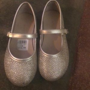 Gold sparkly dress-up shoes toddler 8